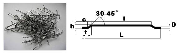 Фибра проволочная, типа марки DRAMIX (Hendix™ 1/50)