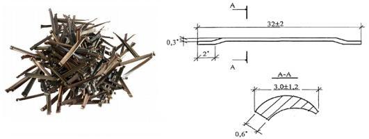 Стальная фрезерованная фибра типа HAREX